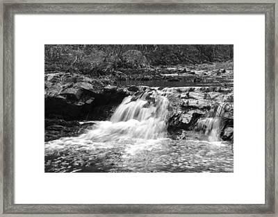 Framed Print featuring the photograph Streambed 2 by David Lester