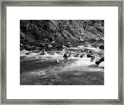 Framed Print featuring the photograph Streambed by David Lester