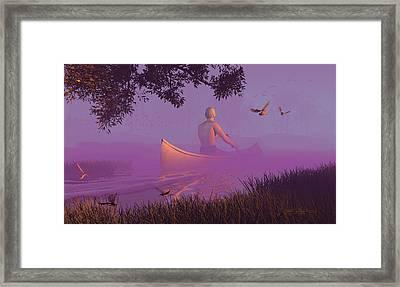 Streamglider Framed Print by Dieter Carlton