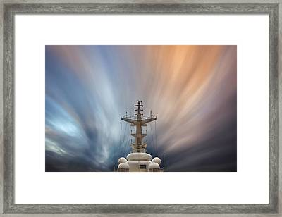 Streaming Clouds Mg_2223 Framed Print