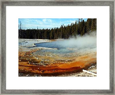 Streaming Colours Framed Print