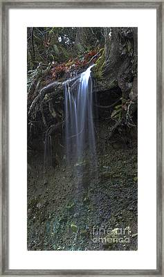 Streaming Mist Framed Print by Rod Wiens