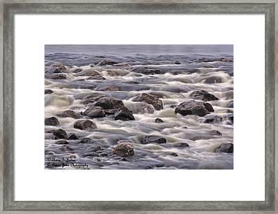 Streaming Rocks Framed Print