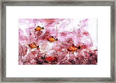 Framed Print featuring the painting Streaming by Ron Richard Baviello