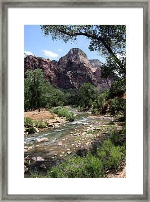 Streaming Vista In Utah Framed Print