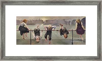 Street Arabs At Play Framed Print