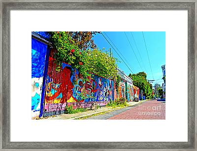 Street Art In The Mission District Of San Francisco IIi Framed Print by Jim Fitzpatrick