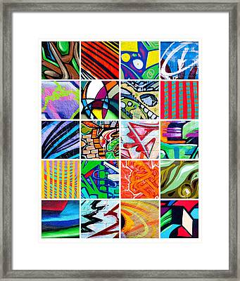 Street Art Patchwork Framed Print by Art Block Collections