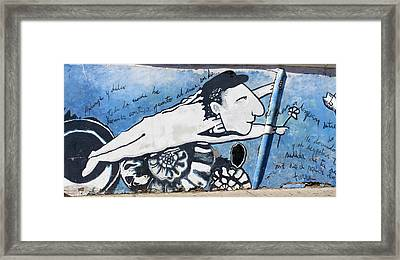 Street Art Santiago Chile Framed Print by Kurt Van Wagner