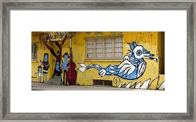 Street Art Valparaiso Chile 12 Framed Print by Kurt Van Wagner