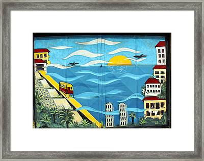 Street Art Valparaiso Chile 13 Framed Print by Kurt Van Wagner