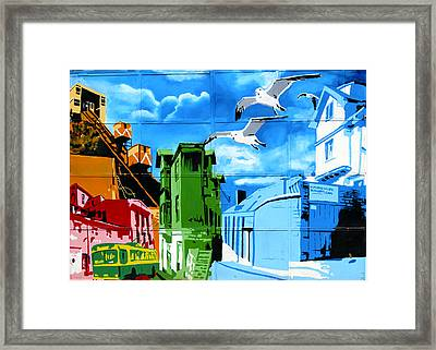 Street Art Valparaiso Chile 15 Framed Print by Kurt Van Wagner