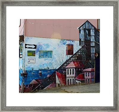 Street Art Valparaiso Chile 17 Framed Print by Kurt Van Wagner