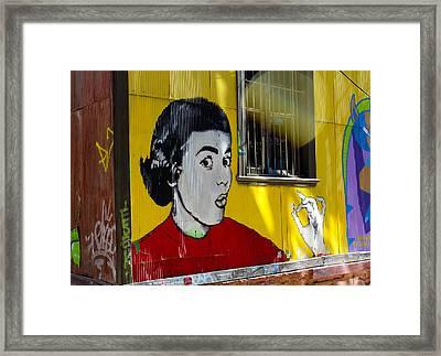 Street Art Valparaiso Chile 7 Framed Print by Kurt Van Wagner
