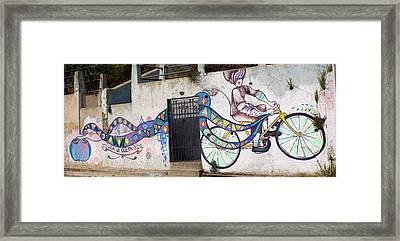Street Art Valparaiso Chile Framed Print by Kurt Van Wagner