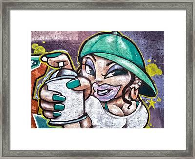 Street Art Xi Framed Print by Roger Lapinski