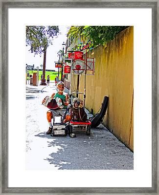 Street Artist Of St. Augustine  Fl Framed Print by Marilyn Holkham