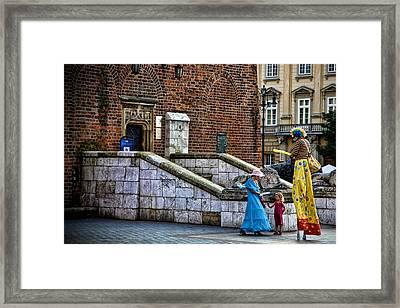 Street Artists Framed Print by Joanna Madloch