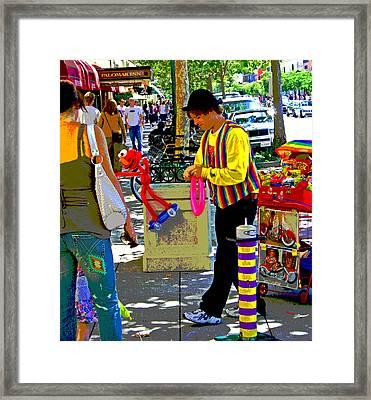 Street Balloon Art Framed Print
