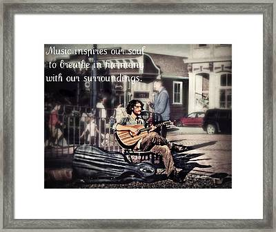 Street Beats Inspiration Framed Print by Melanie Lankford Photography