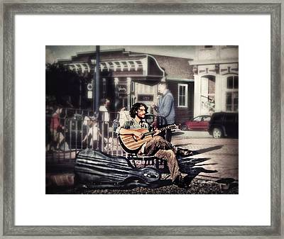 Street Beats Framed Print by Melanie Lankford Photography