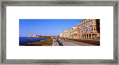 Street, Buildings, Old Havana, Cuba Framed Print