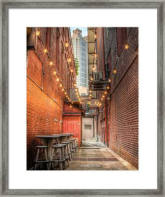 Framed Print featuring the photograph Street Cafe by Anna Rumiantseva