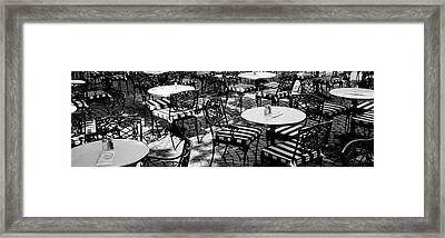 Street Cafe, Frankfurt, Germany Framed Print by Panoramic Images