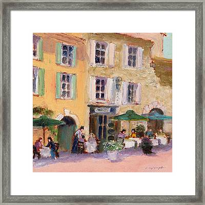 Street Cafe Framed Print