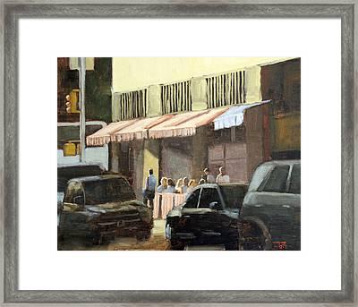 Street Cafe Framed Print