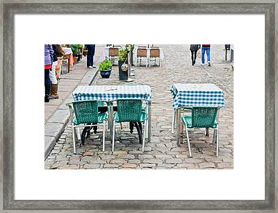 Street Cafe Framed Print by Tom Gowanlock