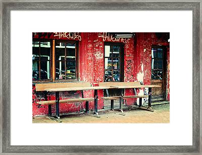 Street Cafe. Trash Sketches From The Amsterdam Streets Framed Print