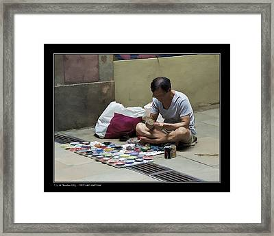 Framed Print featuring the photograph Street Cans Craftsman by Pedro L Gili