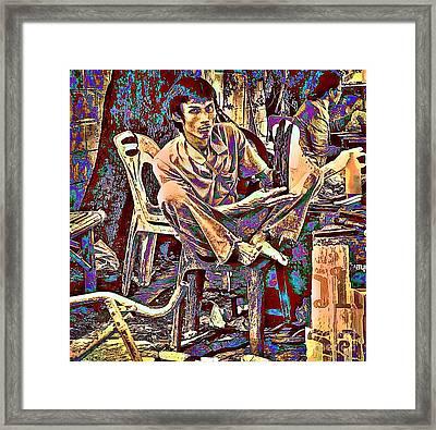 Street Cobbler Framed Print
