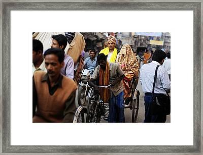 Street Couple Framed Print