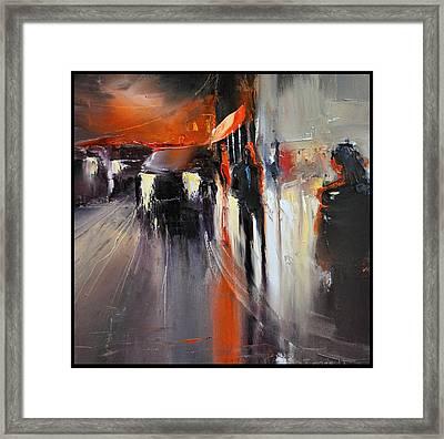 Street Framed Print by David Figielek