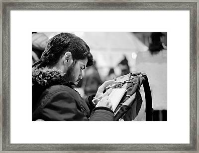 Street Artist Framed Print by Pablo Lopez