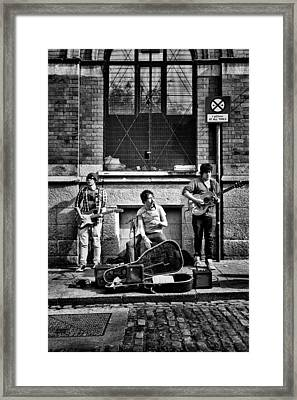 Street Entertainers Framed Print