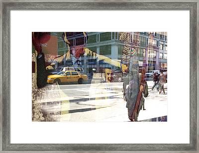 Street Fighting Man Framed Print by Heidi Horowitz