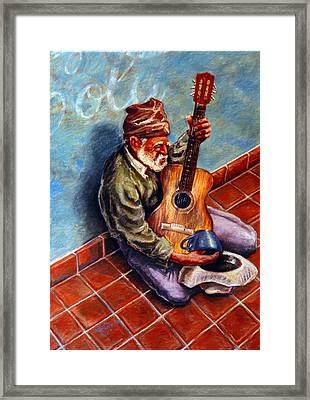 Street Guitar    Framed Print by Dan Terry