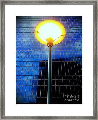 Street Halo Framed Print by James Aiken