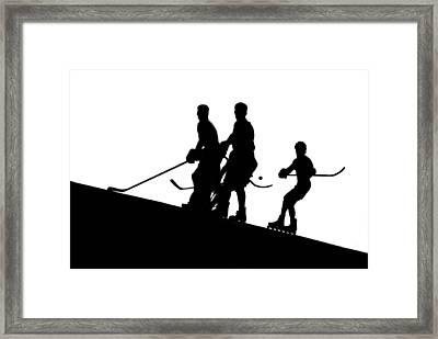 Street Hockey Framed Print