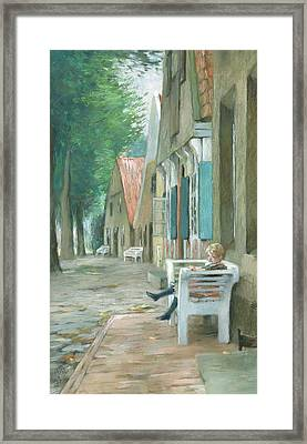 Street In Altenbruch Framed Print by Thomas Ludwig Herbst