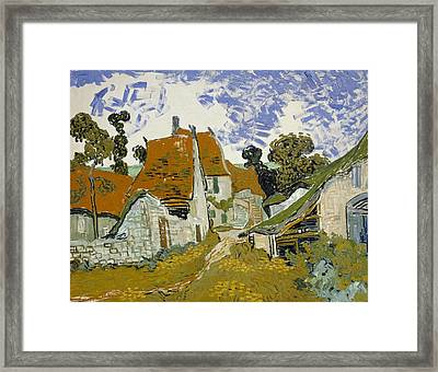 Street In Auvers-sur-oise Framed Print by Vincent van Gogh