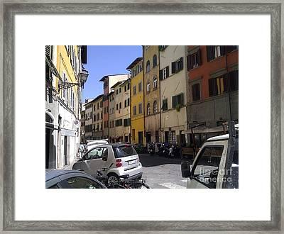 Street In Florence Framed Print