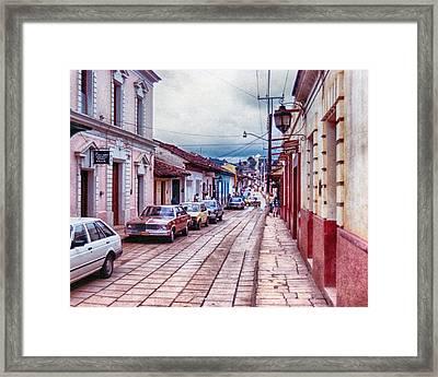 Street In Las Casas Framed Print