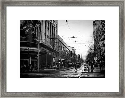 Street In Melbourne  Framed Print by Sanjeewa Marasinghe