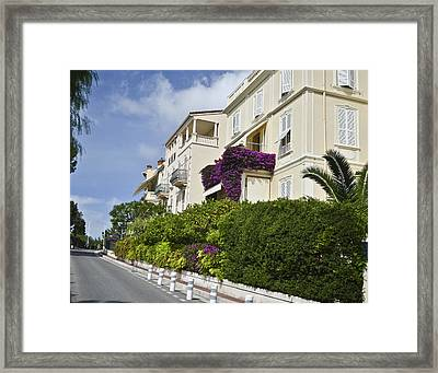 Framed Print featuring the photograph Street In Monaco by Allen Sheffield
