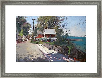 Street In Olcott Beach  Framed Print by Ylli Haruni