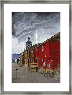 Street In Roros Framed Print